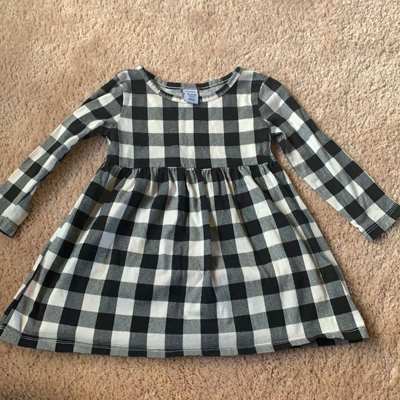 Old navy black and white plaid dress